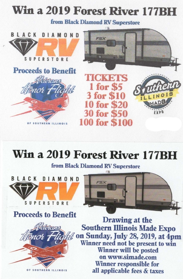 Black Diamond donated a 2019 Forest River 177BH RV for raffle. Proceeds go towards the Honor Flight.