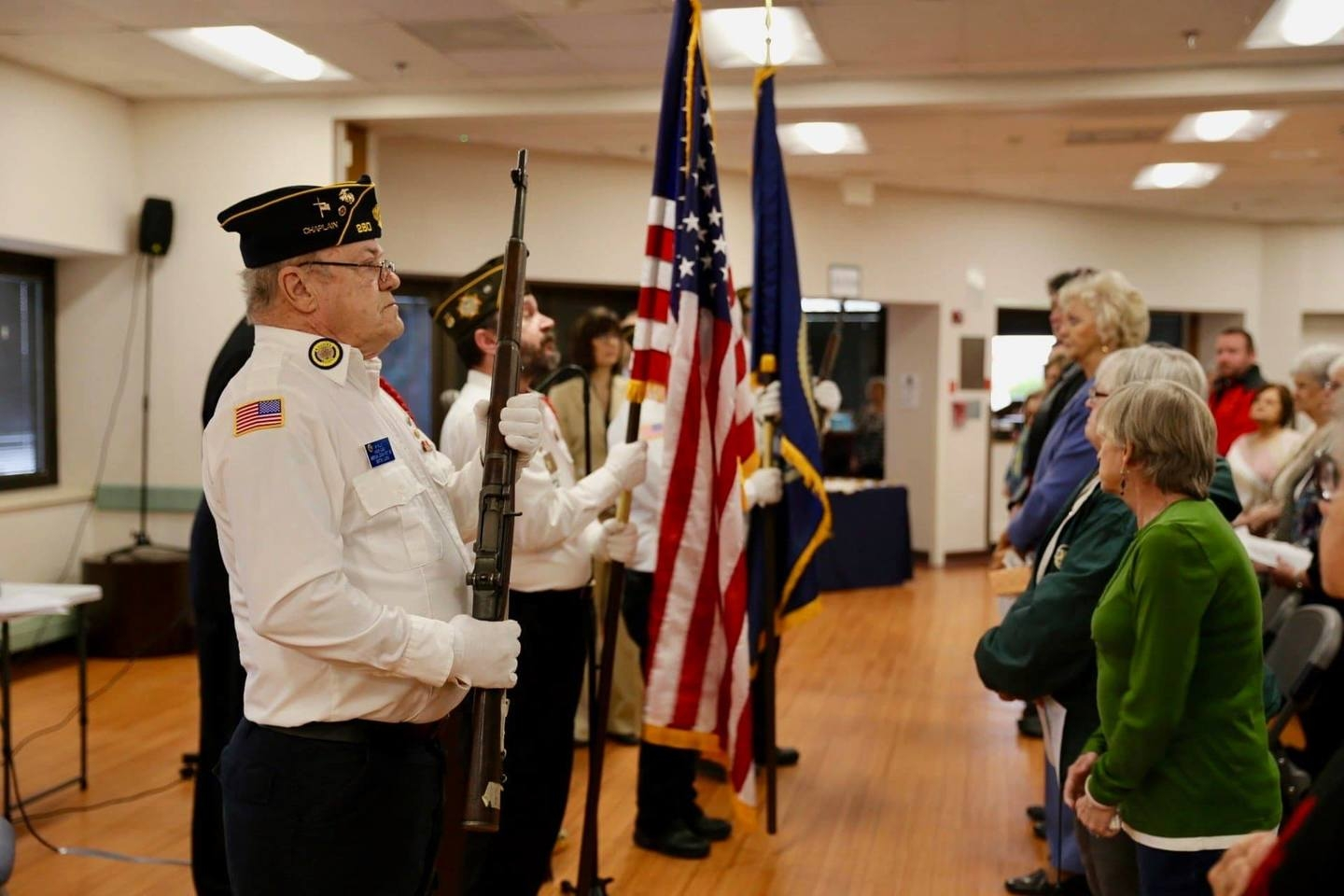 Members of the Benton American Legion Post 280/VFW Post 2671 Honor Guard were invited to participate in the Last Call Ceremony held at the Marion VA Hospital's Community Living Center. Our Honor Guard had the honor of posting the Colors for this hallowed event which honors the Veteran's who had passed during the last few months.